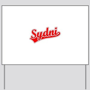 Retro Sydni (Red) Yard Sign